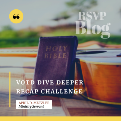 VOTD Dive Deeper Recap Challenge #1