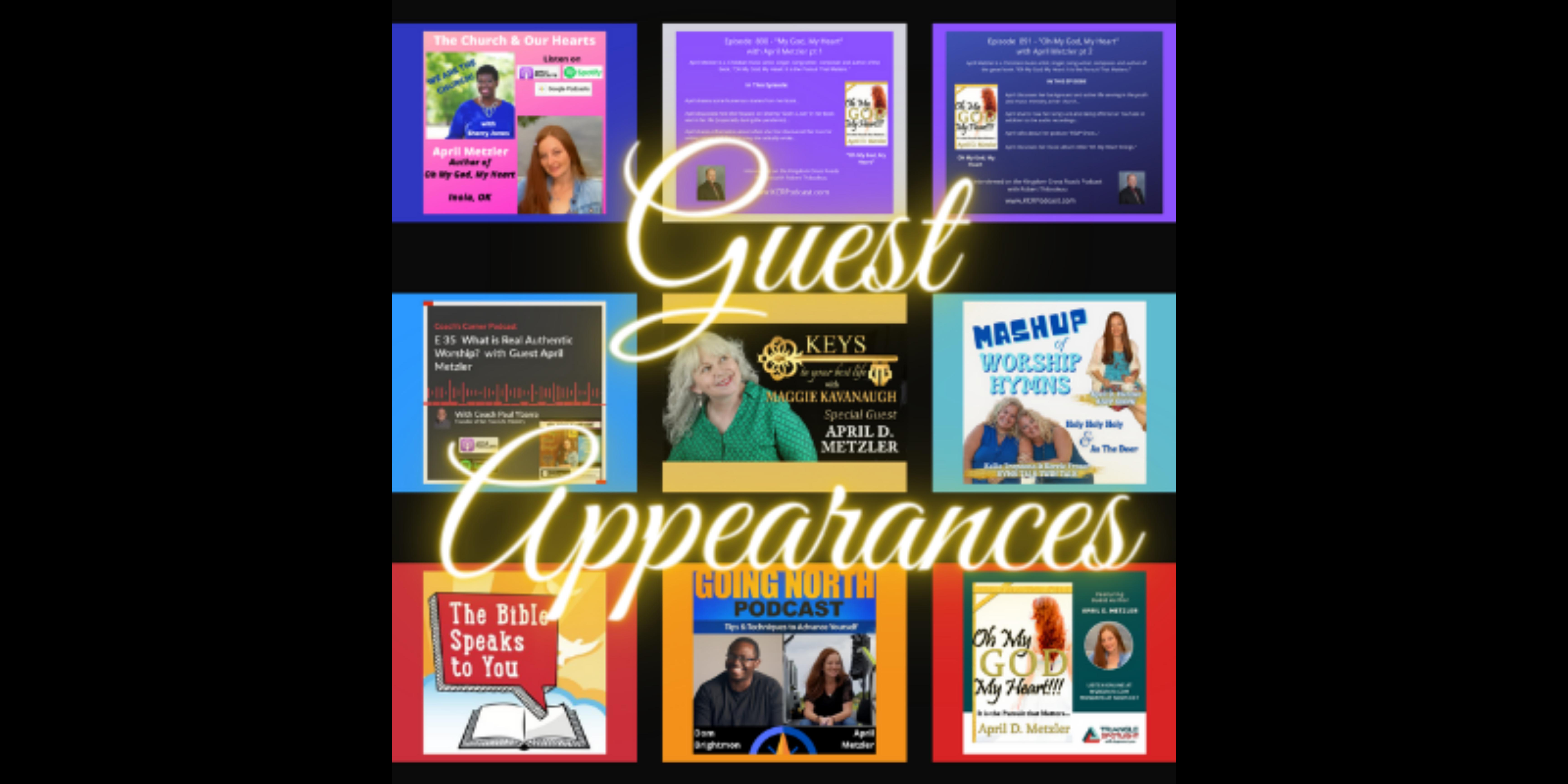 Guest Appearances page header for April D. Metzler